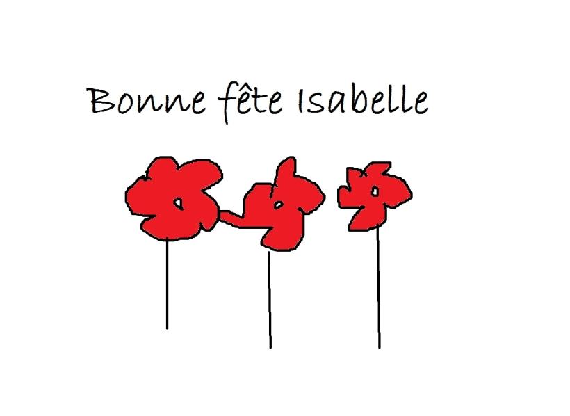 Bonne fête isabelle_pe